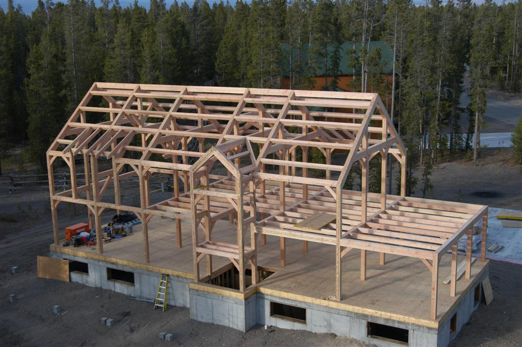 True timber frame homes for Large a frame
