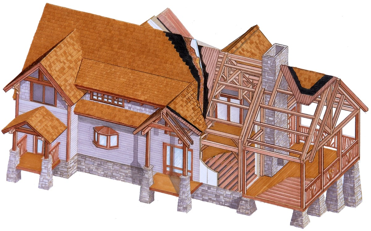 Sips timber frame homes avie home for Structural insulated panel house kits